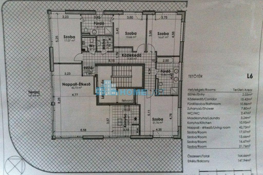 Eladó 164.166 m2 lakás - Budapest II.