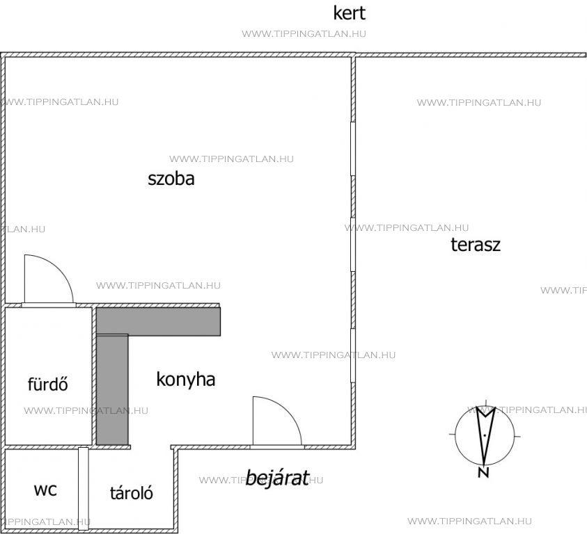 Eladó 27 m2 lakás - Budapest II.