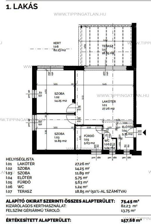 Eladó 75.45 m2 lakás - Budapest III.