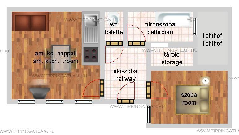 Eladó 67 m2 lakás - Budapest VI.