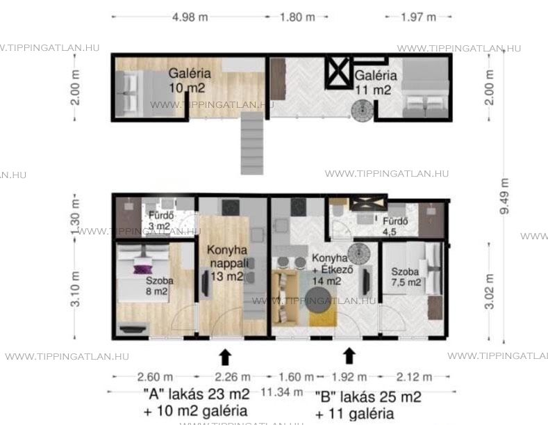 Eladó 48 m2 lakás - Budapest VII.