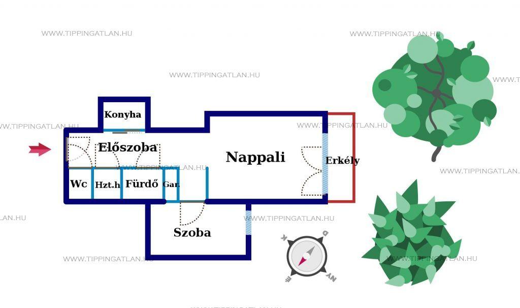 Eladó 48 m2 lakás - Budapest XII.