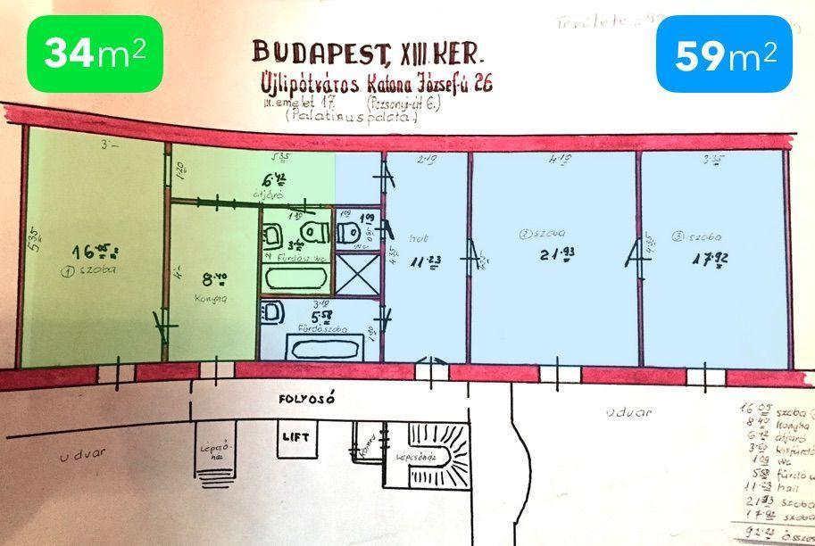 Eladó 93 m2 lakás - Budapest XIII.