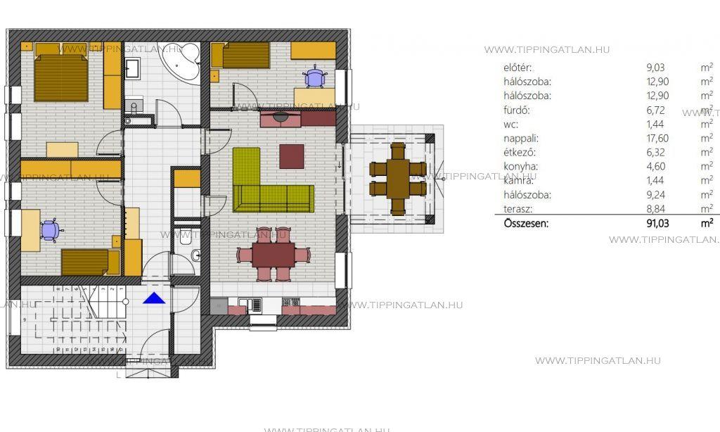 Eladó 74 m2 lakás - Vác